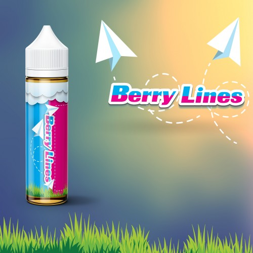 BERRY LINES 50in60 | BLUE ON BOARD