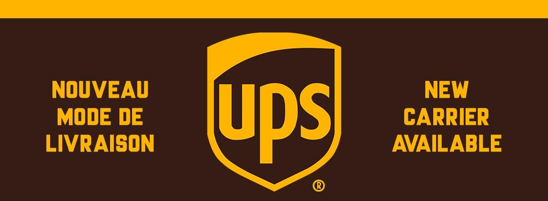Nouveau : Livraison UPS !